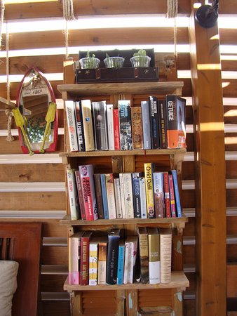 Our New Bookshelf From Old Shutters Corners Leftovers Of The