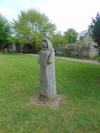 Wooden Statue at Jervaulx Abbey
