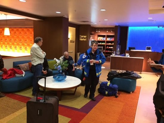 Parsippany, NJ: Embulance called in the Hotel Lobby