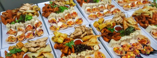 Large sharing canape platters picture of ironic cafe and for Canape platters