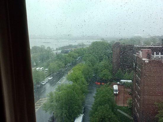 East Elmhurst, NY: Rainy View on Day of Arrival