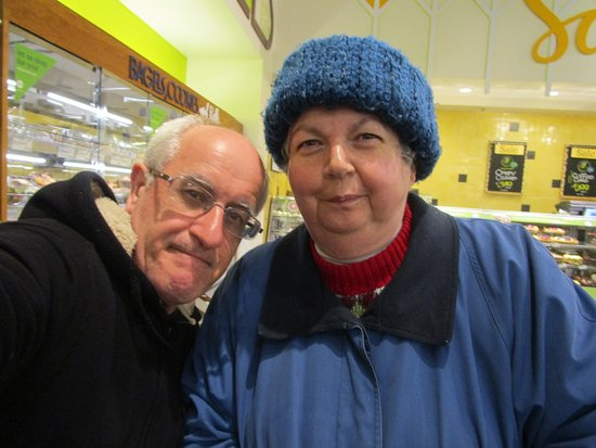 Cranston, RI: Louis and I at Whole Foods Market.