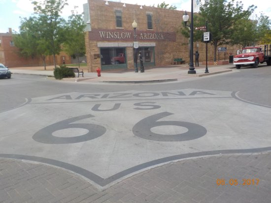 The famous corner in Winslow, AZ.