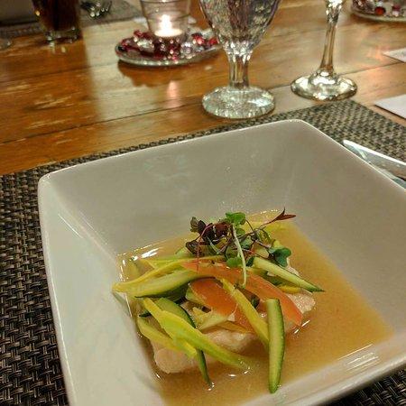 Wyomissing, Pennsylvanie : Miso Poached Salmon