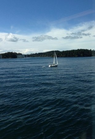 ferrying over to lopez island