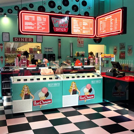 Cruisy Days Diner: Try one of our 19 different flavour's of ice cream