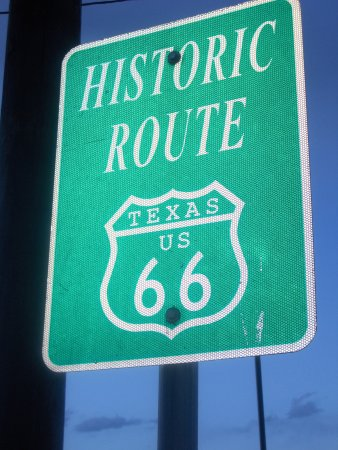 Route 66 Historic District: A sign