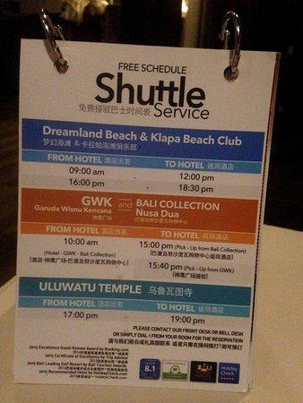 Le Grande Bali : shuttle free transfer