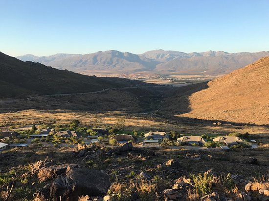 Citrusdal, South Africa: View from mountain behind hotel