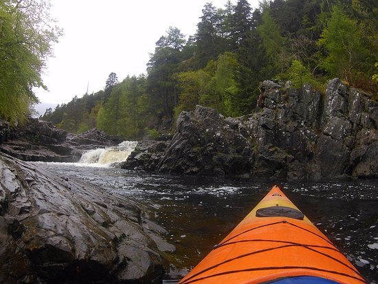 Blairgowrie, UK: Kayaking in Pitlochry area, guided trips available