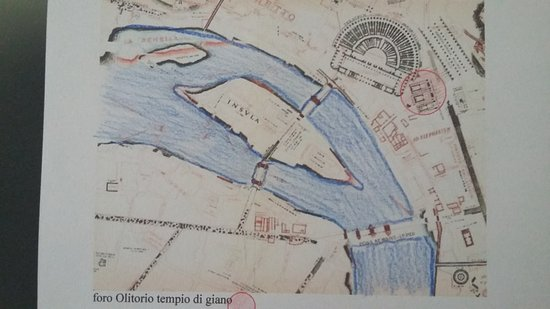 localizzazione al tempo romano - con l'isola tiberina