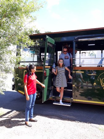 Franschhoek Wine Tram: Warm welcome @ La Couronne