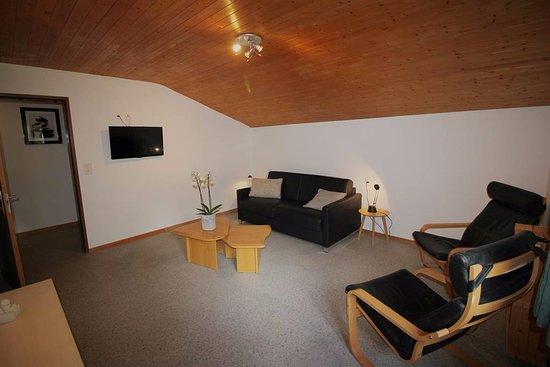 Saas-Grund, İsviçre: Wohnzimmer mit Schlafsofa No. 6