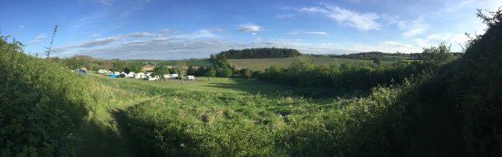 Much Wenlock, UK: The panoramic view from the top of the site
