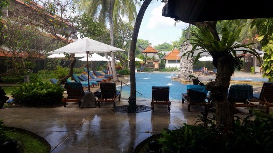 Bali Rani Hotel: A rainy morning by the pool