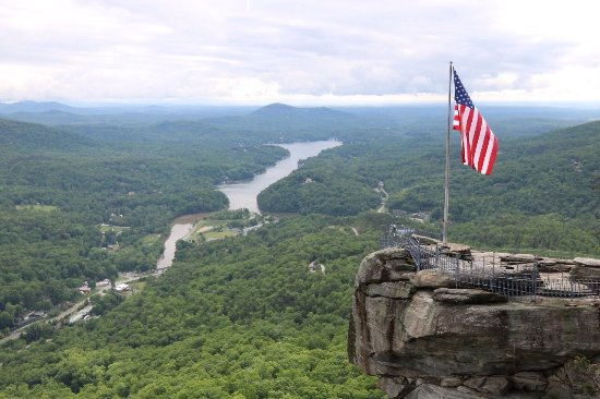 Chimney Rock State Park is well worth it. I was in awed the entire hike.  Hard to believe the ro