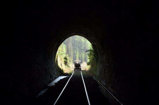Taumarunui, Nya Zeeland: And through a tunnel.