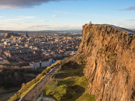 Édimbourg, UK : The view of Edinburgh from Salisbury Crags