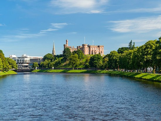 Inverness castle on the River Ness in the city of Inverness