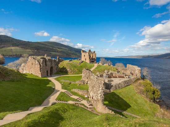Inverness, UK: Urquhart Castle situated on  Loch Ness