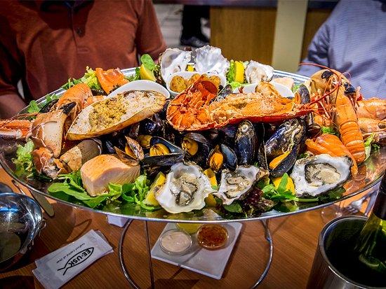 Seafood platter at Ee-Usk seafood restaurant in Oban