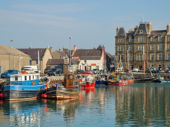 The harbour at Kirkwall, Mainland