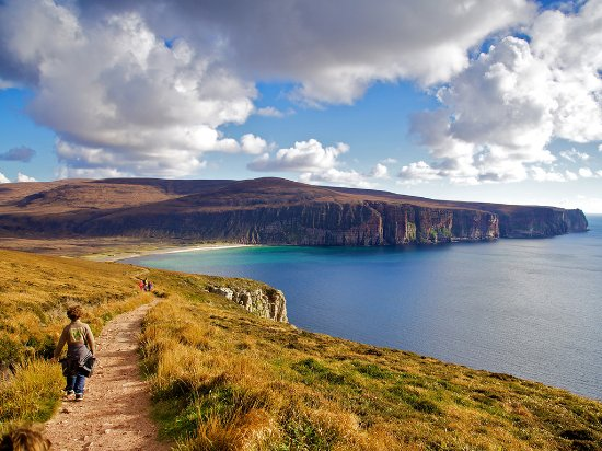 Kirkwall, UK : The path back to Rackwick from The Old Man of Hoy