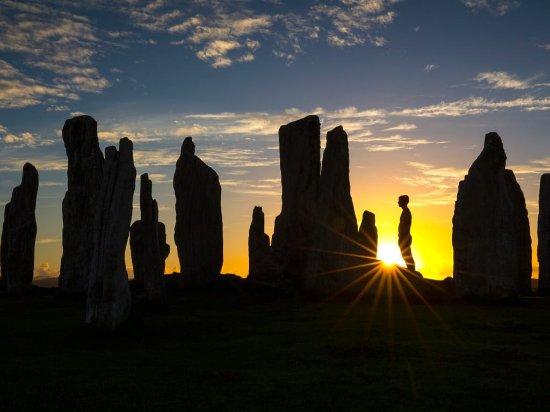 Isle of Harris, UK: Callanish Stones in evening light