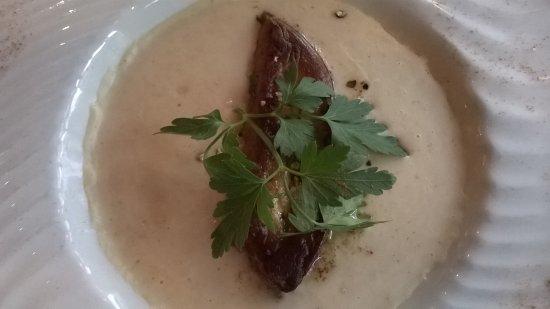 Le Bistro Melrose : foie gras et velouté de haricots