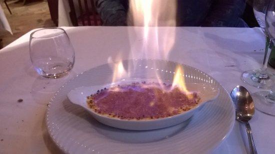Le Bistro Melrose : crème brûlée flambée
