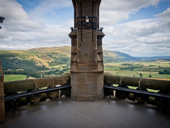 Stirling, UK : View from the top of the National Wallace Monument