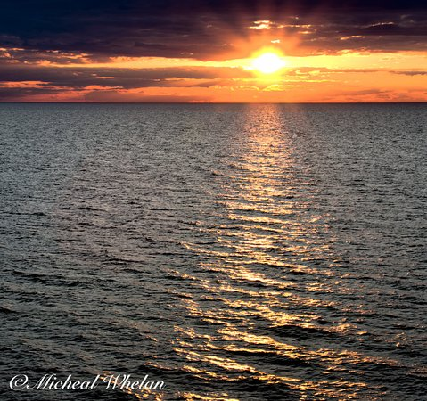 Orchard Beach State Park: Sunset from the bluff
