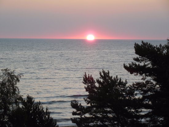 Arkona Strandhotel: Morgens bei Sonnenaufgang
