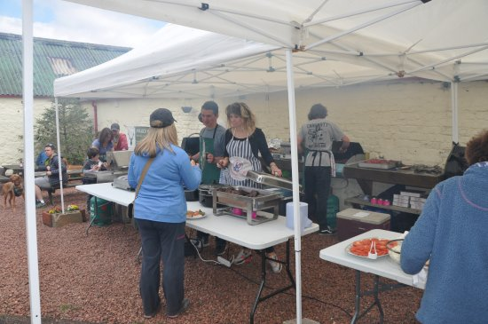 Biggar, UK: great BBQ's to be had if arranged for larger parties