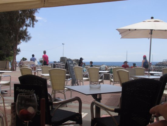 La Playa de Mogan, Spain: The view from our table