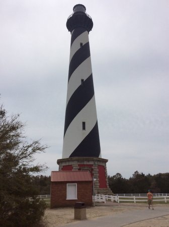 Cape Hatteras National Seashore: Cape Hatterad Light House. Moved inland due to shoreline deterioration. Took 23 days to move it.