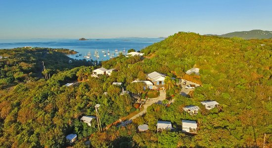 Virgin Islands Campground: Aerial view of the campground