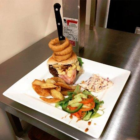 Aberdare, UK: What! Smoke Haus Premium Burger