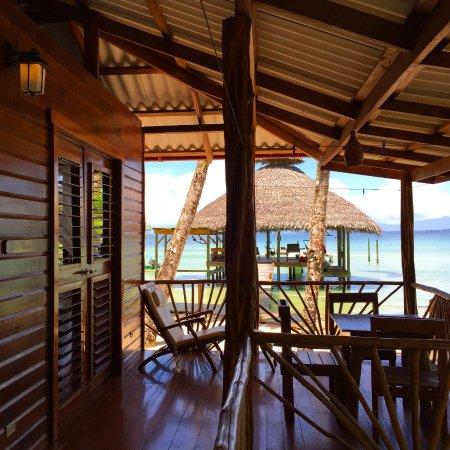 Isla Bastimentos, Panama: Porch of beach front cabin, Tortuga