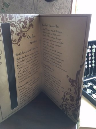 Old Curiosity Tea Shop: Menu which can also be fully access on website