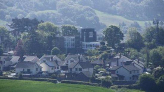 YHA Conwy: View of the Hostel from Mynydd y Dref.