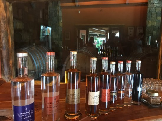 Chamarel: Various flavoured rums