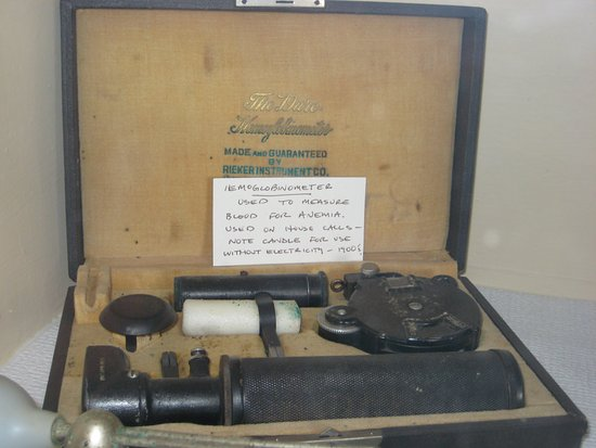Foley, AL: Old method (without electricity) to measure Hemoglobin in blood