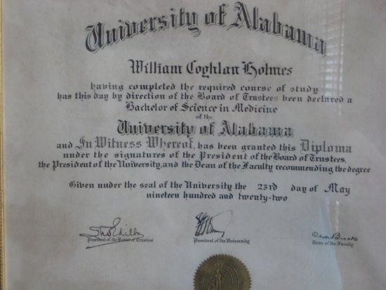 Foley, AL: Dr William Holmes medical degree