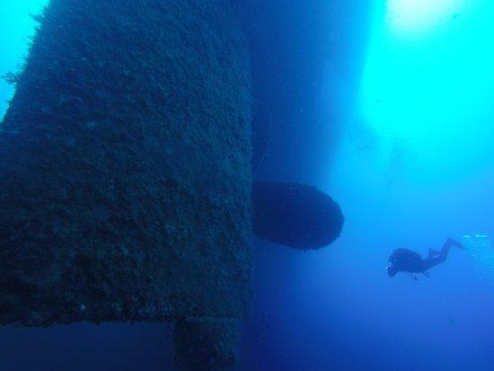 Aegiali, กรีซ: wreck diving