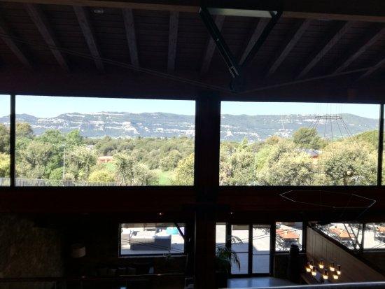 Seva, Spanyol: вид из лобби отеля