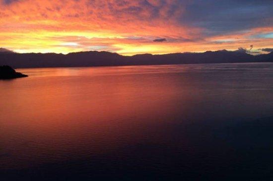 Lake Atitlan, Guatemala: sunriseView from Tzununa hukev