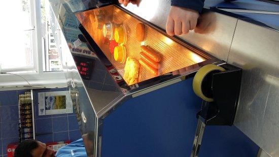 Llandrindod Wells, UK: Frying our fish