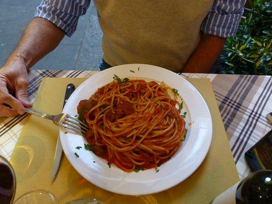 Osteria della Vite: spaghetti and meatballs
