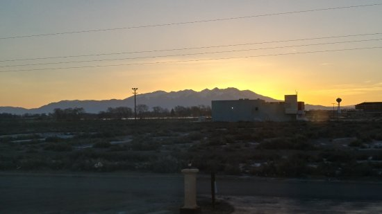Alamosa, CO: Sunrise over Sangre de Cristo Mountains.